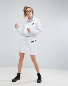 Стеганая юбка с молниями Boy London - Белый