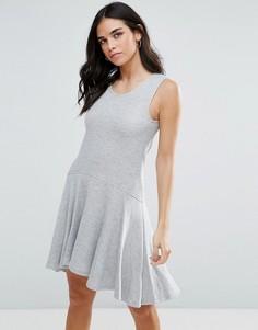 Трикотажное платье-трапеция Liquorish - Серый