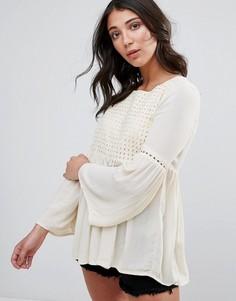 Блузка с расклешенными рукавами Only Lupina - Белый