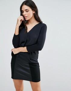 Блузка с запахом Liquorish - Черный