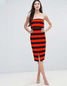 Платье миди в полоску Lavish Alice - Мульти