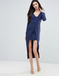 Облегающее платье-кейп Lavish Alice - Темно-синий