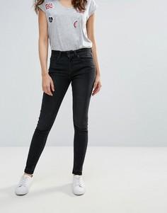 Облегающие джинсы Pieces Five Abby - Черный