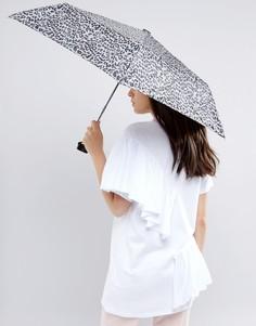 Зонт с леопардовым принтом Totes - Коричневый