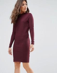 Платье-джемпер с длинными рукавами Y.A.S Sage - Красный