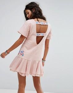 Платье с рюшами RahiCali Tropics - Розовый