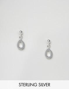 Серебряные серьги-гвоздики с подвесками ASOS - Серебряный