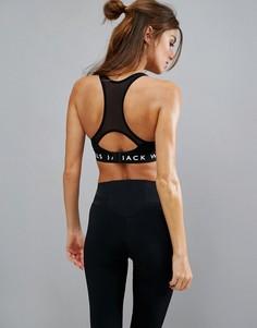 Спортивный бюстгальтер со спинкой-борцовкой Jack Wills - Черный
