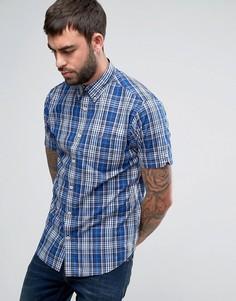 Клетчатая рубашка классического кроя Ben Sherman - Темно-синий