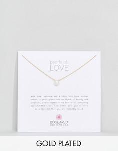 Позолоченное ожерелье Dogeared Pearls of Love - Золотой
