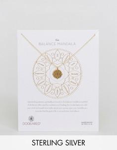 Позолоченное ожерелье с подвеской мандала Dogeared - Золотой