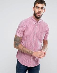Рубашка классического кроя в клеточку Ben Sherman - Розовый