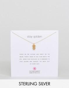Позолоченное ожерелье с подвеской-ананасом Dogeared Stay Golden - Золотой