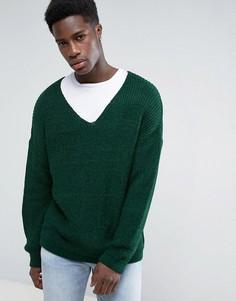 Свободный зеленый джемпер ASOS - Зеленый