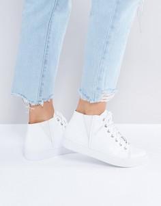 Высокие белые кожаные кроссовки Vagabond Zoe - Белый