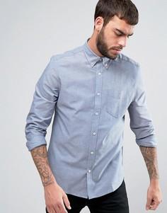 Оксфордская джинсовая рубашка классического кроя Ben Sherman - Синий