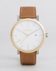 Часы со светло-коричневым кожаным ремешком Nixon Speedster II Rollo - Рыжий