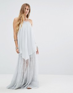 Кружевное платье макси Free People Pretty Lark - Белый
