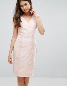 Платье с кружевной отделкой Paper Dolls - Розовый