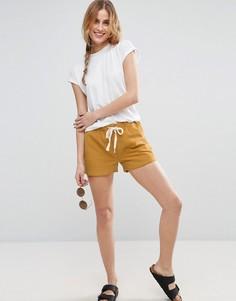 Повседневные льняные шорты на затягивающемся шнурке ASOS - Мульти