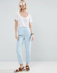 Фактурные льняные брюки ASOS - Мульти