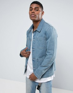 Синяя джинсовая куртка ASOS - Синий