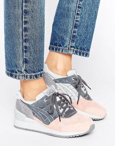 Серо-розовые замшевые кроссовки Asics Gel-Respector - Серый