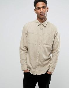 Облегающая рубашка с карманами в стиле милитари Jack & Jones Vintage - Бежевый