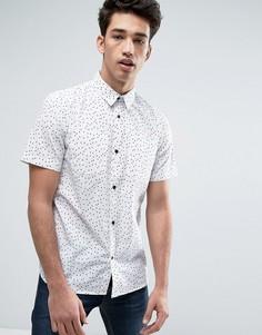 Рубашка в горошек D-Struct - Белый