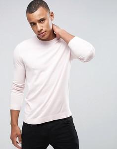 Бледно-розовый хлопковый джемпер ASOS - Розовый
