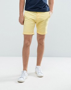 Эластичные шорты чиносы слим Selected Homme - Желтый