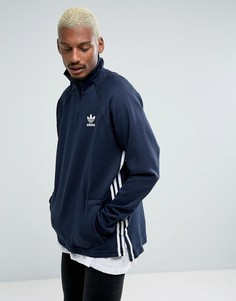 Худи синего цвета с короткой молнией adidas Originals Tokyo Pack NMD BK2217 - Синий