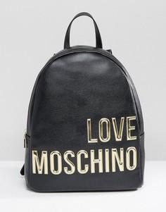 Рюкзак с большим логотипом Love Moschino - Черный