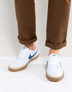 Белые кроссовки на каучуковой подошве Nike SB Portmore II SS 880268-149 - Белый