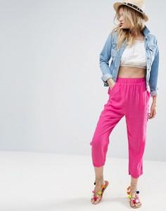 Брюки-галифе с карманами ASOS - Розовый