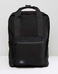 Черный парусиновый рюкзак с нашивкой ASOS - Черный