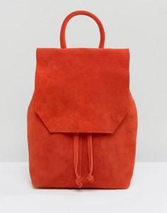 Маленький замшевый рюкзак ASOS - Красный