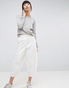 Белые джинсы с декоративными швами ASOS WHITE - Кремовый