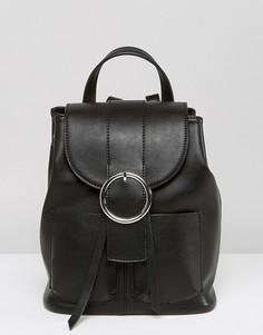 Рюкзак с пряжкой ASOS - Черный