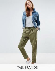 Суженные книзу брюки Vero Moda Tall - Зеленый