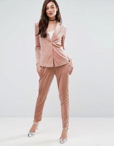 Комбинируемые широкие брюки со складками Fashion Union - Розовый