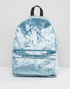 Бархатный рюкзак ASOS - Зеленый