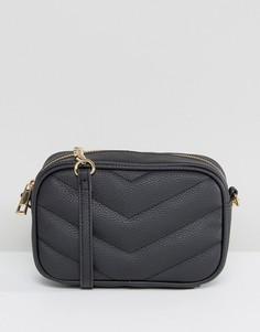 Стеганая сумка через плечо ASOS - Черный