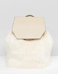 Рюкзак с искусственным мехом Kendall + Kylie - Кремовый