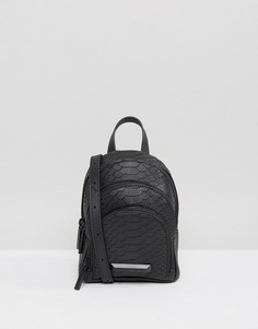 Маленький рюкзак с эффектом змеиной кожи Kendall + Kylie Sloane - Черный