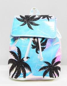 Переливающийся рюкзак с блестками на пальмах Skinnydip - Мульти