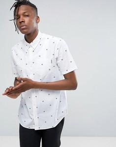 Рубашка классического кроя с короткими рукавами Carhartt WIP Hammer - Белый