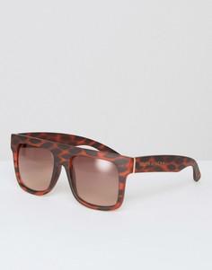 Солнцезащитные очки в стиле oversize с прямым верхом и градиентными стеклами South Beach - Коричневый