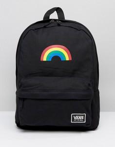 Черный рюкзак с радугой Vans - Мульти