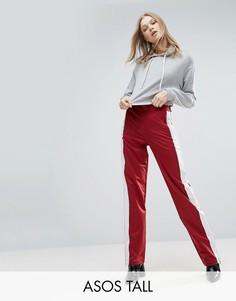 Прямые спортивные брюки с полосками по бокам ASOS TALL - Мульти